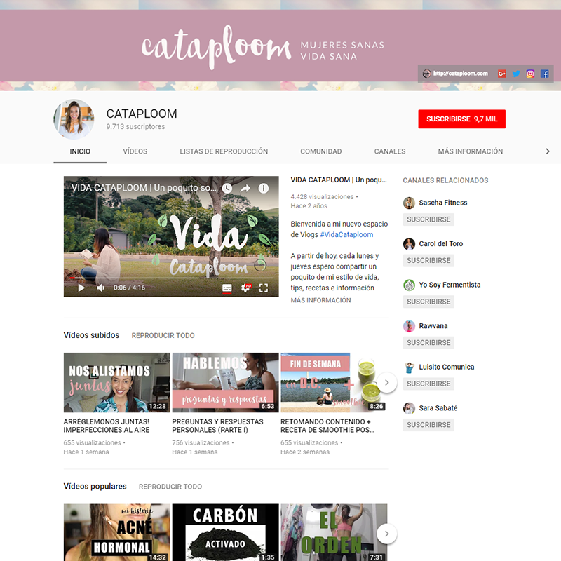 Cataploom en YouTube